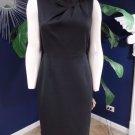 TAHARI Black Ponte Sleeveless Classic Sheath Dress 8