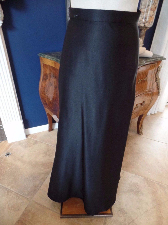 TADASHI Black Satin Hostess Maxi Evening A Line Skirt 6