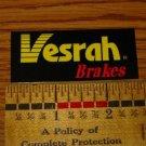 VESRAH BRAKES Team MTB Road Bike Frame Sticker Decal
