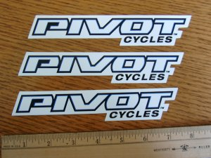 3 PIVOT  BIKES BMX Mountain Road Frame Sticker Decal