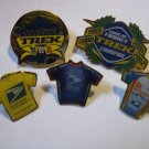 5 USPS Lance Armstrong Cycling Pin PRO CYCLING TEAM SET