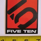 "3"" FIVE TEN 5/10 Red/BlaCk Climb Hike Ride Bicycle Bike Car Frame Sticker Decal"