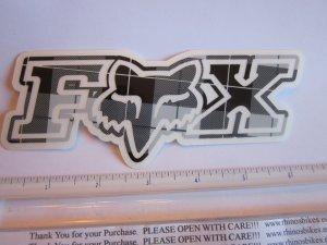 "6"" FOX RACING Murphys GREY PLAID MX Head Mountain ride Bike Frame Sticker Decal"