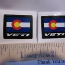 "1"" 2 YETI CYCLES Flag BICYCLES BIKE FRAME STICKER DECAL"