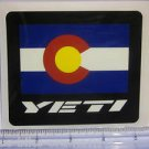"4"" YETI CYCLES Colorado Flag MTB BICYCLES BIKE FRAME Ride Race MTN STICKER DECAL"