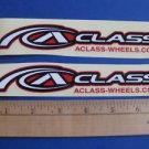 2 ALEX A-CLASS RIM BIKE BICYCLE FRAME -- STICKER DECAL - Free USA Shipping