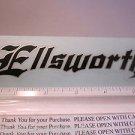 "5.5"" ELLSWORTH Black Mountain Frame Ride Car Mountain Bike Bicycle DECAL STICKER"