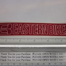 """6"""" EASTERN BIKES Red BMX Street Bicycle Ride Race Car Tool Frame STICKER DECAL"""