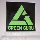 "3"" GREEN GURU Recycle Road MTB  Bike Frame Bicycle DECAL STICKER Free Shipping"