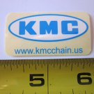 "2"" KMC Chain BLUE/WHITE  Street Bicycle Ride Race Car Tool Frame STICKER DECAL"