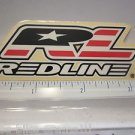 "3.5"" REDLINE BMX Cyclocross Ride Bike Frame Bicycle DECAL STICKER Free Shipping"