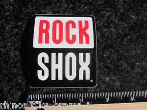 "3"" x 2.5"" ROCK SHOX Red/Black Mountain Bike Bikes Fork Shox MTB  STICKER DECAL"