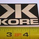 "3"" KORE Silver/Black Ride Road Mountain Bicycle Bike Car Frame Sticker Decal"