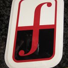 "5"" FORUM White/Red Ski Snowboard Race Rack Ride DECAL STICKER - FREE SHIPPING"