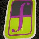 "5"" FORUM Green/Purple Ski Snowboard Race Rack Ride DECAL STICKER - FREE SHIPPING"