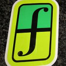"5"" FORUM Green/Green Ski Snowboard Race Rack Ride DECAL STICKER - FREE SHIPPING"