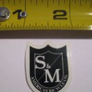 S and M S&M BMX SM Street Frame Ride MTB STICKER DECAL