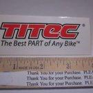"4"" Titec MTB BMX Race Frame Mountain Bike DECAL STICKER"