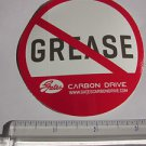 GATES CARBON NO GREASE Belt Drive Road Tri Mountain Bike Frame Sticker Decal