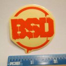 "2"" BSD BMX Street Red/CLEAR Ride  Bicycle Bike Mountain Road Tri STICKER DECAL"