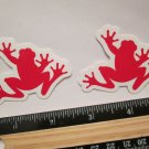 """TWO 2.25"""" SRAM FROG Road Tri Race Mountain Bike Ride Frame Bicycle DECAL STICKER"""