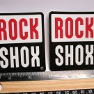 "TWO 3"" ROCK SHOX Ride MX MTB Tri RIDE DH Mountain Road Frame Bike DECAL STICKER"