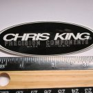"3.5"" CHRIS KING BLACK Trail Dirt MX RIDE BMX DH MX MTB Frame Bike) DECAL STICKER"