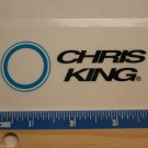 "4"" CHRIS KING Trail Dirt MX RIDE BMX DH MX MTB Frame Bike) DECAL STICKER"