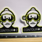 """TWO 3"""" CONTOUR +2 Camera MTB  Commute Ride Mountain Frame Bicycle DECAL STICKER"""
