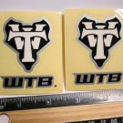 "TWO 2.5"" WTB Trail Tri Fat Tire Bike Ride Mountain Frame Bicycle DECAL STICKER"