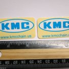 """TWO - 2"""" KMC WORLDS LIGHTEST -Blue/White- Bike Bicycle Bike Ride STICKER DECAL"""
