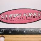 "3.5"" CHRIS KING Pink Trail Dirt MX RIDE BMX DH MX MTB Frame Bike) DECAL STICKER"