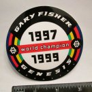 "3.25"" GARY FISHER WORLD Mountain Road Race Bike Ride Frame Bicycle DECAL STICKER"