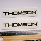 "TWO - 4"" THOMSON Black wide Bicycle Sticker (Mountain Road Tri Frame Bike Decal)"