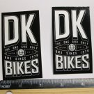 "TWO 3.5"" DK BICYCLES Street Park BMX 1979 Mountain Frame Bike DECAL STICKER RBZ"