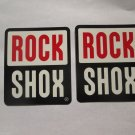"TWO - 3"" ROCK SHOX   - Parts Bike Mountain Bicycle Ride STICKER DECAL (RBRA)"