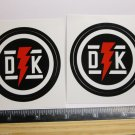 "TWO 2.5"" DK BICYCLES Street Park BMX 1979 Mountain Frame Bike DECAL STICKER RBZ"
