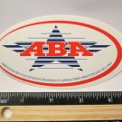 "4.5"" ABA American BMX Road Bike Race TRAIL Ride Frame Bicycle DECAL STICKER RBZ"