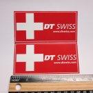 "TWO 3.5"" DT SWISS Rim Hub (Dirt RIDE BMX DH MX MTB Frame Bike DECAL STICKER rbz"