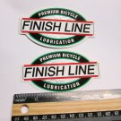TWO- FINISH LINE LUBE Fat  Bike Ride Mountain Frame Bicycle DECAL STICKER rbz