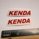"TWO 1.75"" KENDA MTB BMX STREET DIRT TRAIL Ride Frame Bicycle DECAL STICKER rbz"