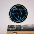 "1 3/8"" DIAMONDBACK Black (BMX Road MTB Mountain Bike Frame) Sticker Decal rbz"