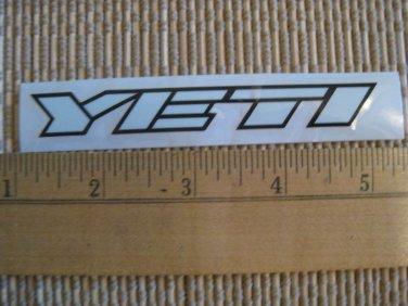 "4"" White YETI CYCLES MTB BICYCLES BIKE FRAME STICKER DECAL"