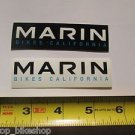 "TWO - 3.5"" MARIN 1 black & 1 White Mountain Bicycle Ride STICKER DECAL (RBRB)"