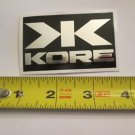 "ONE - 2.75""  KORE Black/Silver  Bike Mountain Bicycle Ride STICKER DECAL (RBRC)"