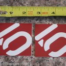 TWO - 5/10 Five Ten RED   Bike Bicycle Mountain -  STICKER DECAL (A13)