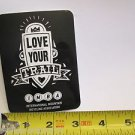 "ONE - 4"" IMBA LOVE YOUR TRAIL Bike Mountain Bicycle Ride STICKER DECAL (RBRC)"