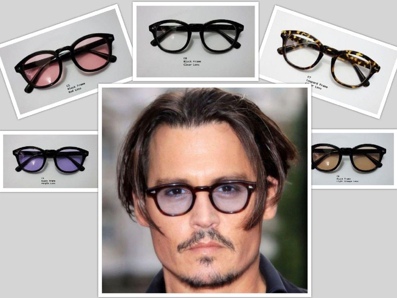 Sunglasses Vintage Johnny Depp Men Frame Retro Clear Fashion Glasses Tinted Lens
