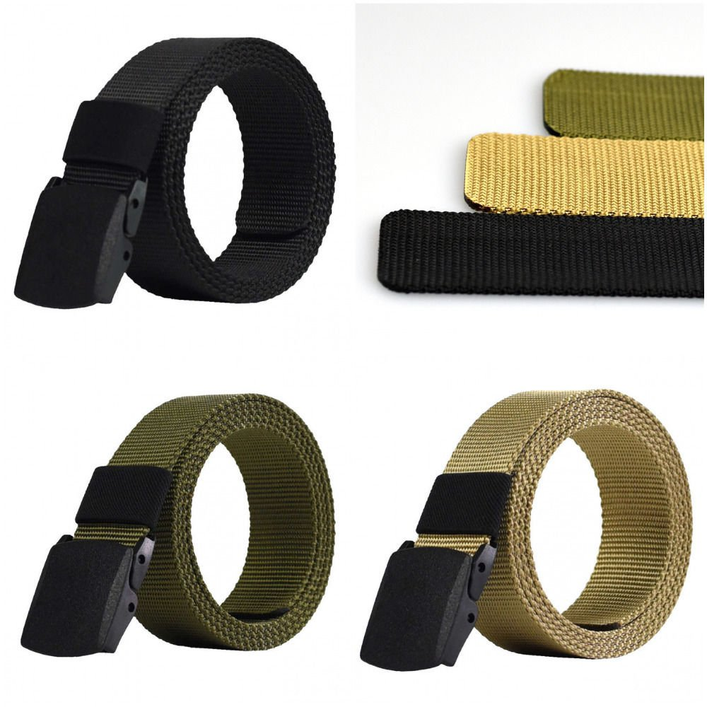 Men Fashion Outdoor Sports Military Tactical Nylon Canvas Web Belt Waistband