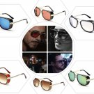 Iron Man Sunglasses Men Robert Downey Tony Stark Goggles Aviator Square Red Lens